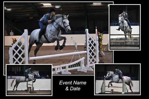 equestrian montage print
