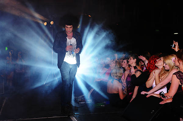 Jamie Archer performing at the Pink Ball