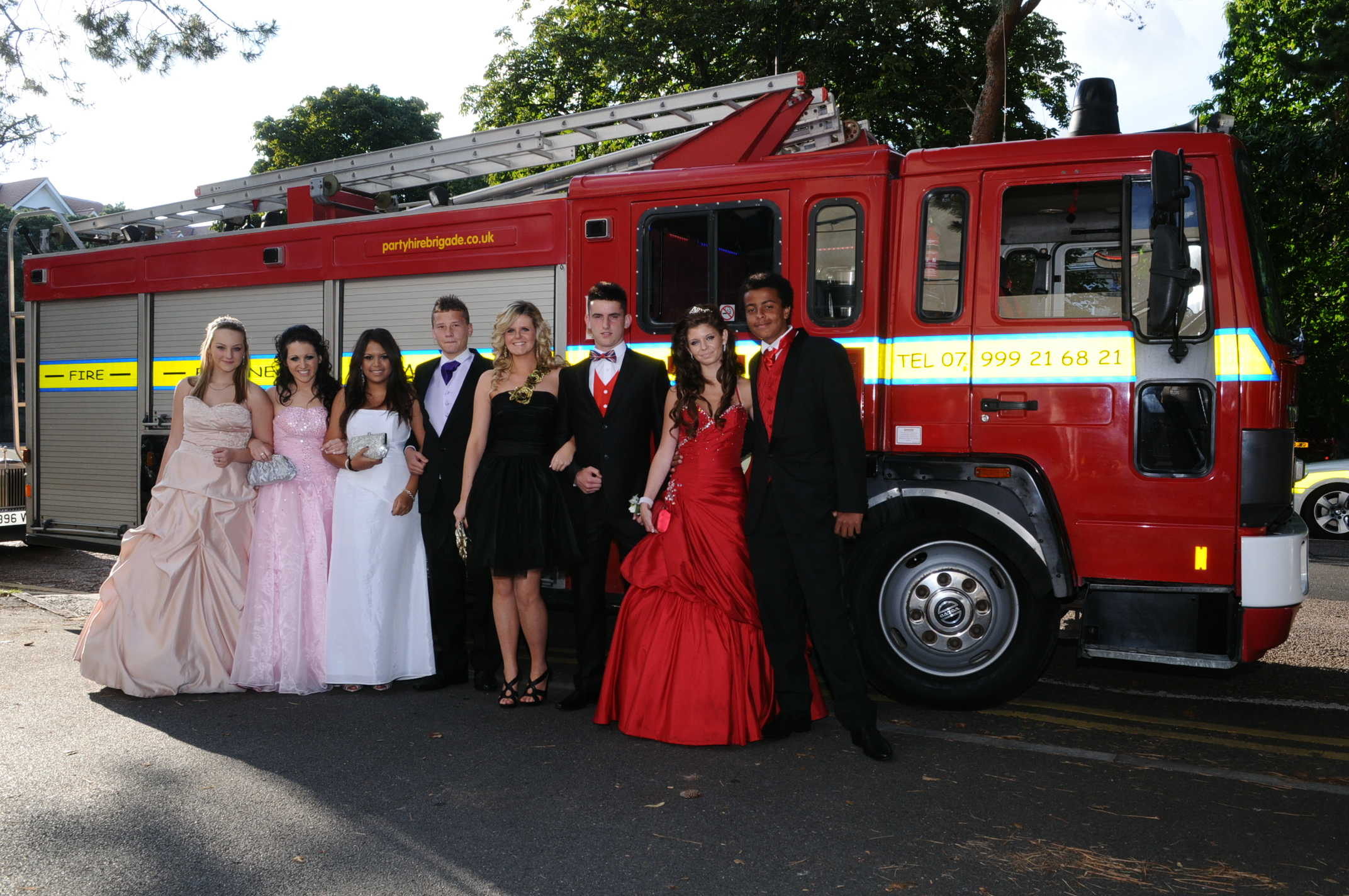 Arriving in Style at The Ashdown Prom 2011