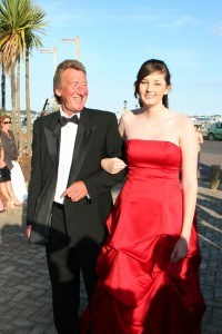 Prom arrival on Red Carpet, Poole, Dorset