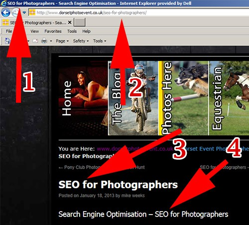 SEO for photographers - Focus Keyword