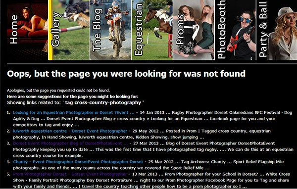 SEO for Photographers 404 page not found